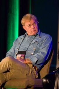 Frazer Hines onstage at Galaxy Fest 2013 (photo: Chris Gillstrap)
