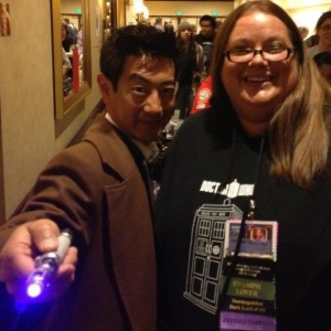 Heather and Grant from The Mythbusters at Gallifrey One 2012