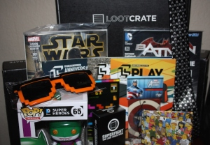 Selection of items from Loot Crates in December 2014, January 2015 and February 2015.  Photo: Heather Maloney