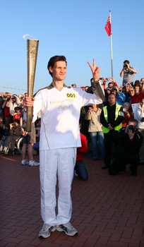 The Olympic Torch Continues Its Journey Around The UK - Day 8
